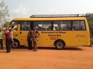 The school bus we rented for the excursion